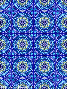 四方连续,是图案画中的一种组织方法.