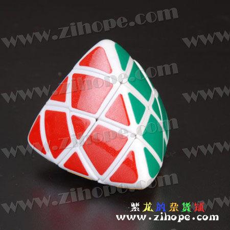 粽子魔方确实是三阶魔方,关键是要把角块,棱块,中心块分辨出来.