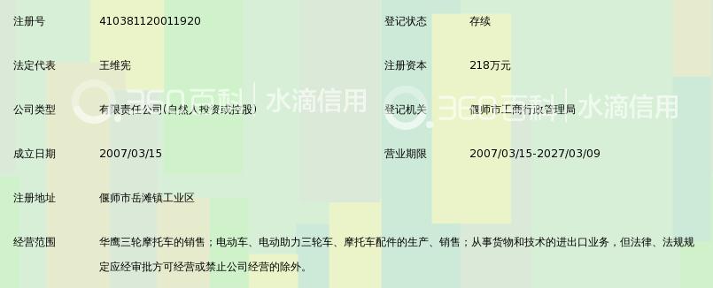 洛阳华鹰三轮摩托车销售有限公司_360百科