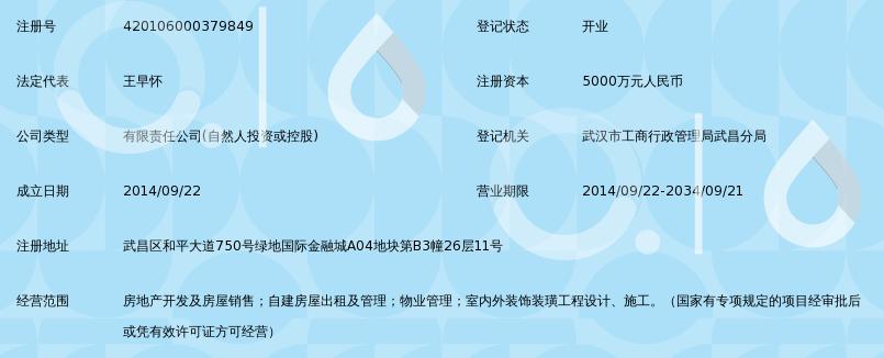 华夏季金谷(武汉)置业拥有限公司