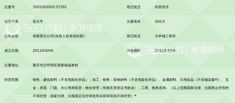 重庆曾家木材市场管理有限公司