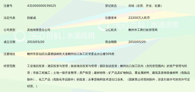郴州小埠投资开发集团有限公司邮编邮编查询423022湖南省郴州市北湖